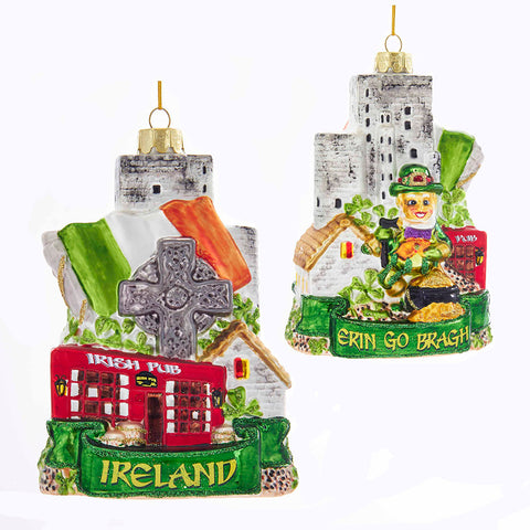 Glass Ireland Ornament For Christmas Tree