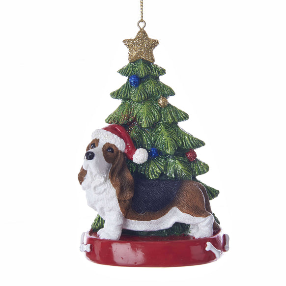 Bassett Hound Dog Ornament