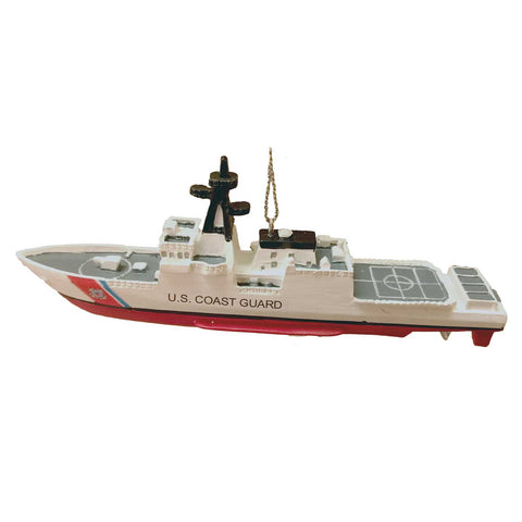 U.S. Coast Guard Ship 3D Christmas Ornament