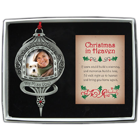 Christmas in Heaven Photo Frame Ornament