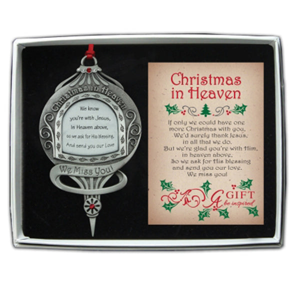 Christmas in Heaven Christmas Ornament