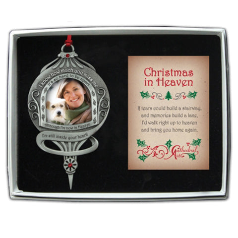 Still Inside Your Heart Photo Frame Memorial Christmas Ornament