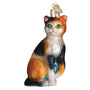Glass Calico Cat Ornament for Christmas Tree