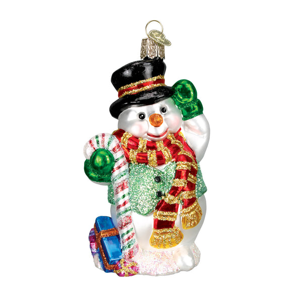 Candy Cane Snowman Ornament for Christmas Tree