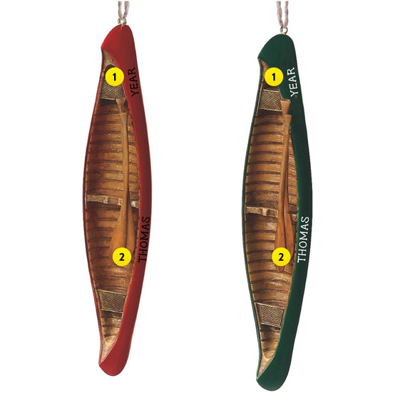 Canoe Christmas tree Ornament
