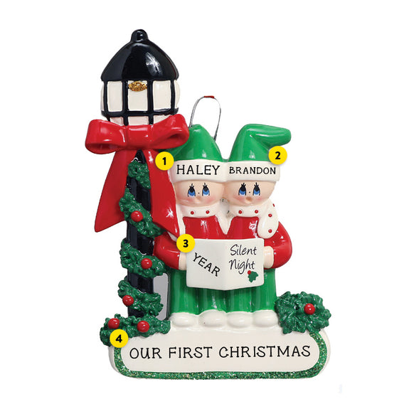 Caroling Couple Ornament for Christmas Tree