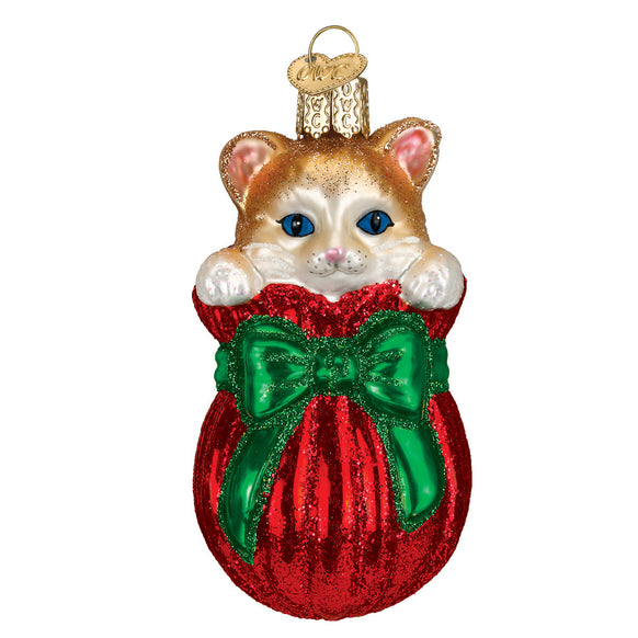 Letting the Cat Out of the Bag Ornament for Christmas Tree