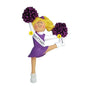 Cheerleader with Purple Ornament Purple - Female, Blond Hair
