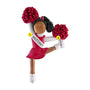 Cheerleader with Red Uniform Ornament - African-American Female