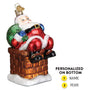 Chimney Stop Santa Ornament