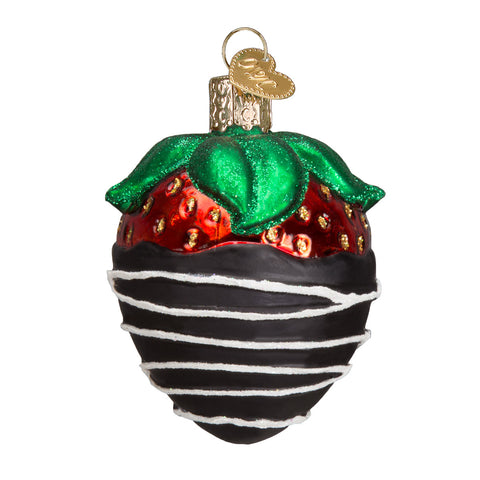 Chocolate-Covered Strawberry Ornament for Christmas Tree