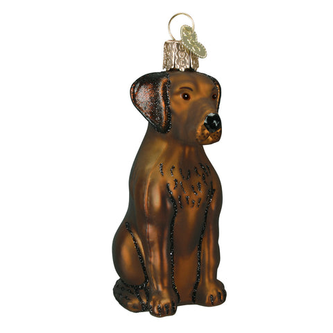 Chocolate Labrador Ornament for Christmas Tree