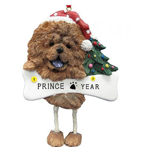 Chow Dog Ornament for Christmas Tree