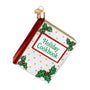 Christmas Cookbook Ornament for Christmas Tree