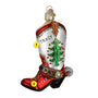 Christmas Cowboy Boots Ornament