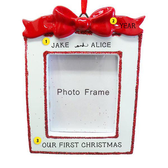 Christmas Frame with Bow Ornament