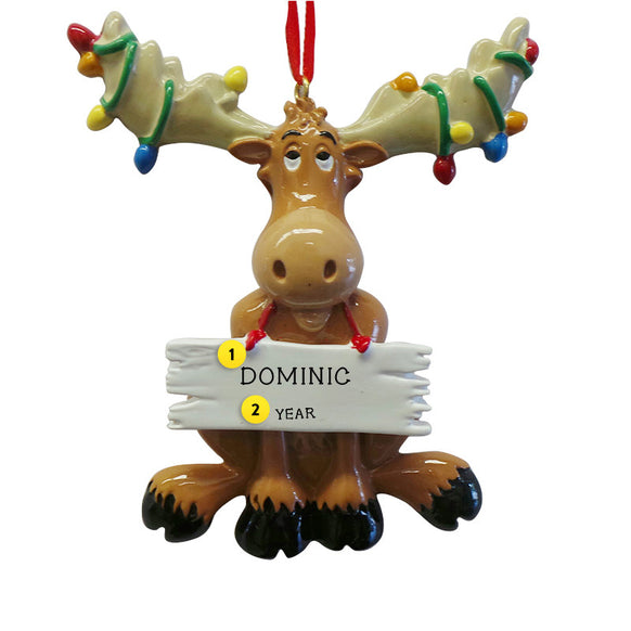Christmas Moose with Lights Ornament for Christmas Tree