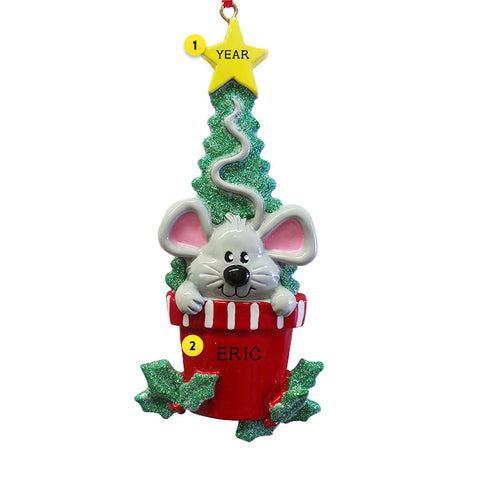 Christmas Mouse Ornament for Christmas Tree