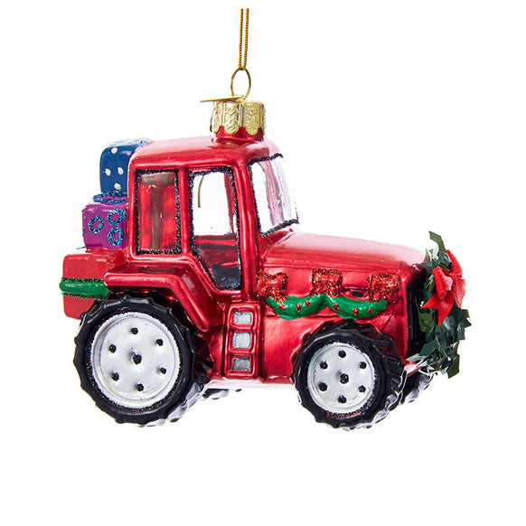 Christmas Tractor Ornament for Christmas Tree