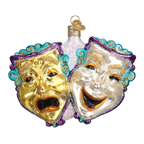 Comedy and Tragedy Ornament for Christmas Tree
