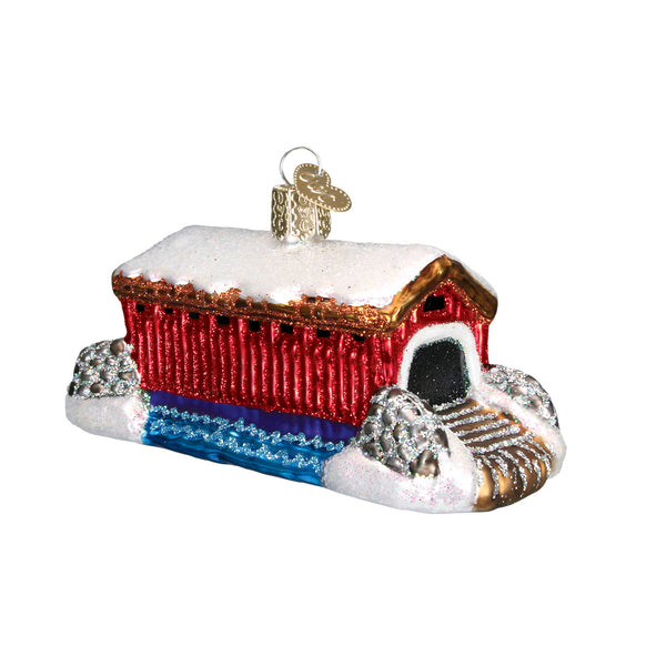 Covered Bridge Ornament for Christmas Tree