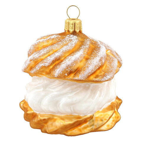 Cream Puff Ornament for Christmas Tree