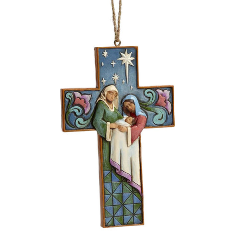Cross Ornament for Christmas Tree