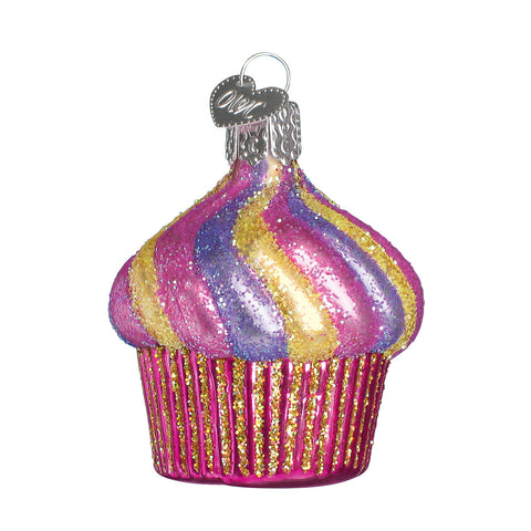 Glass Cupcake Ornament for Christmas Tree