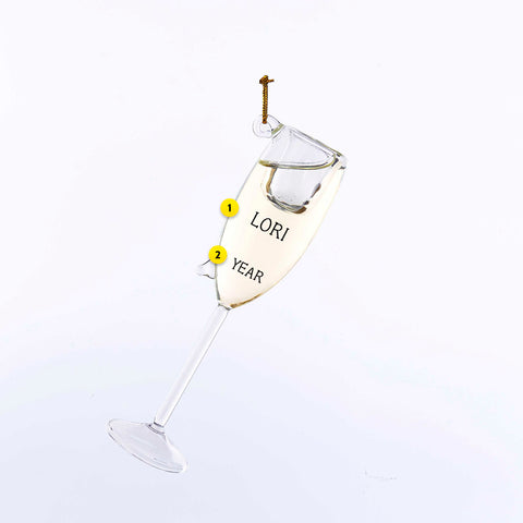 Champagne Glass Ornament For Christmas Tree
