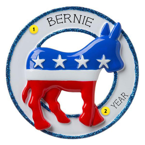 Democratic Donkey Personalized Ornament For Your Tree