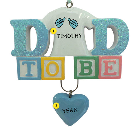 Dad To Be Ornament for Christmas Tree
