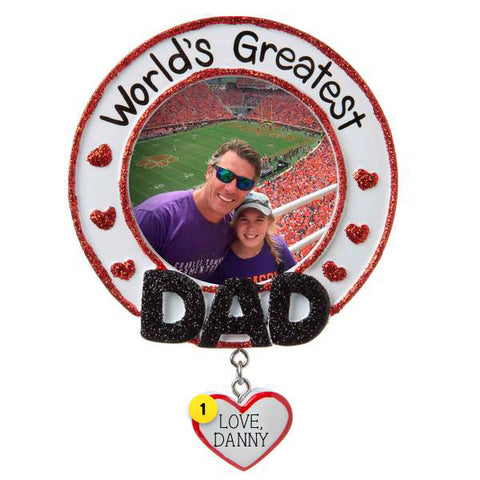 World's Greatest Dad Frame Ornament