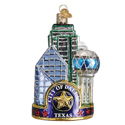 Dallas City Ornament for Christmas Tree