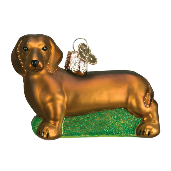 Daschshund Ornament for Christmas Tree
