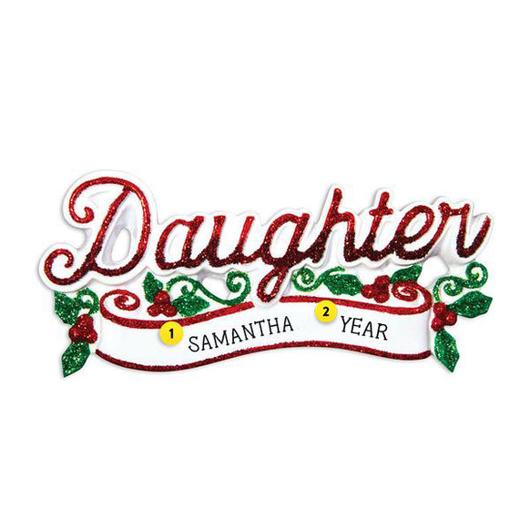 Daughter Ornament for Christmas Tree