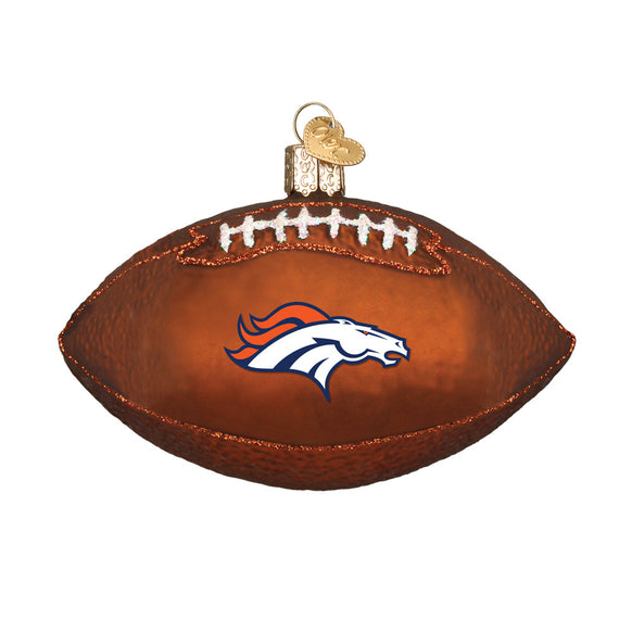 Denver Broncos Football Ornament for Christmas Tree