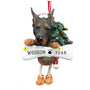 Doberman Dog Ornament for Christmas Tree