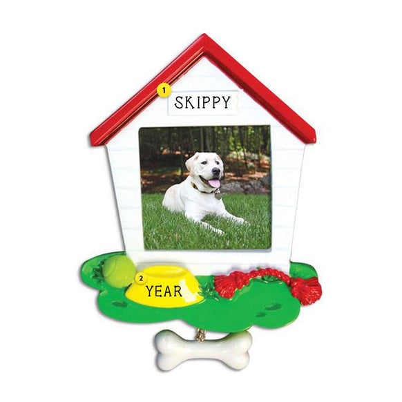 Dog House Frame Ornament for Christmas Tree