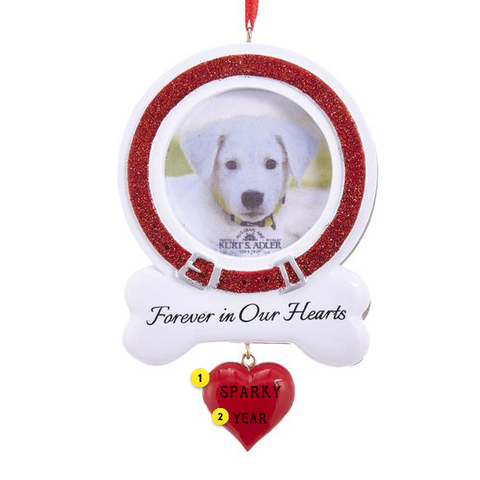 Dog Memorial Frame Ornament