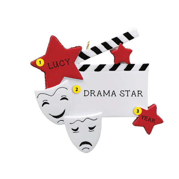 Drama Star Ornament for Christmas Tree