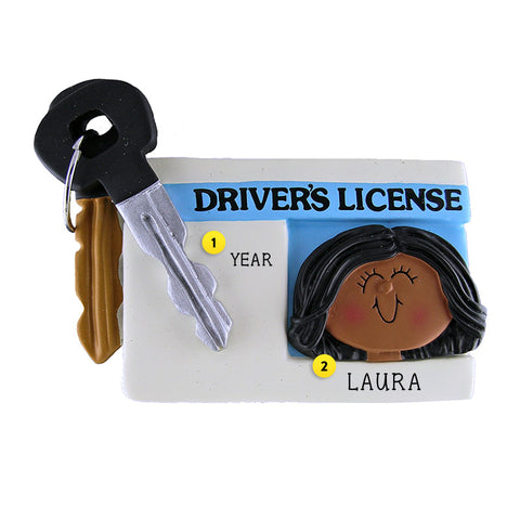 Driver's License Ornament - African-American Female