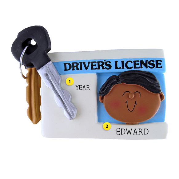 Driver's License Ornament - African-American Male
