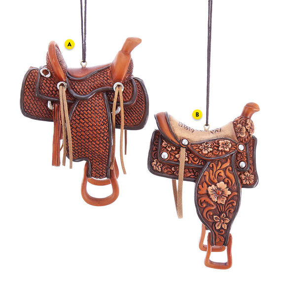 Western Saddle 2 Assorted Ornament For Christmas Tree