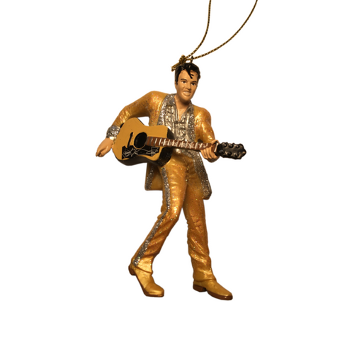 Elvis Gold Suit with Guitar Ornament