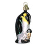 Emperor Penguin with Chick Ornament for Christmas Tree
