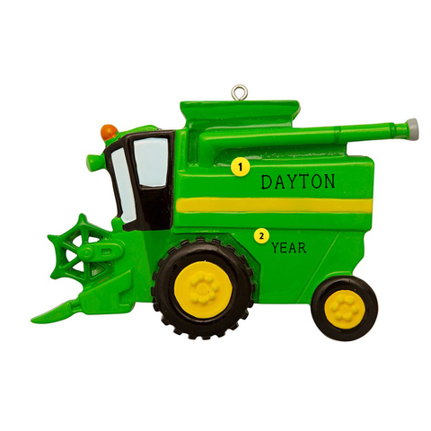 Farm Combine Christmas Ornament