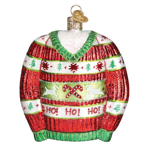 Festive Christmas Sweater Ornament for Christmas Tree