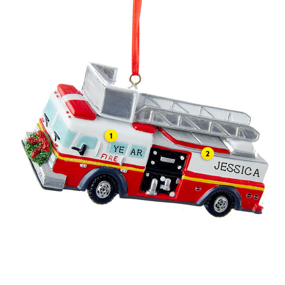 Firetruck Ornament for Christmas Tree