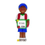 1st Day of School Ornament - Black Male for Christmas Tree