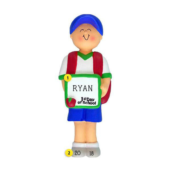 1st Day of School Ornament - Male